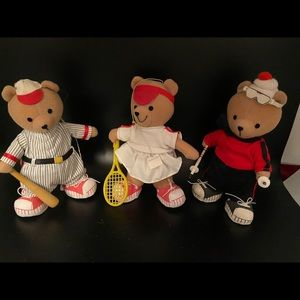 Three sports bears
